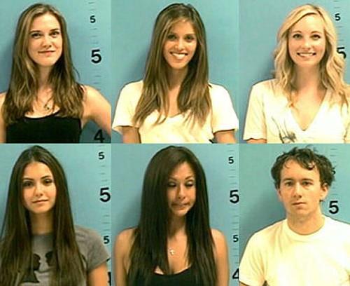Celebrity Mugshots of the Vampire Diaries Cast
